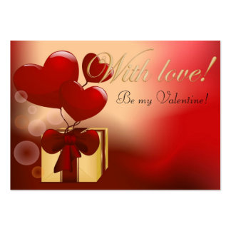 Be My Valentine Large Business Card