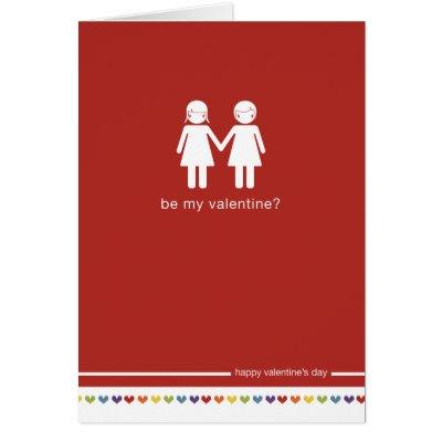 Lesbian Valentines Day Card Modern Art Sculpture – Lesbian Valentines Day Cards