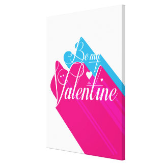 Be My Valentine Long Shadow Canvas Print