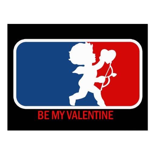 Be my Valentine Parody Postcard