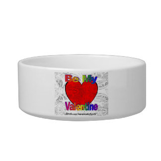 Be My Valentine Cat Water Bowl