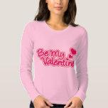 Be My Valentine pink graphic women's tee