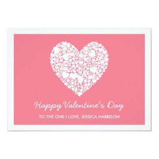 Be My Valentine, Pink Heart Valentine's Day Card