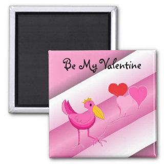 Be My Valentine Pink Stork Magnet