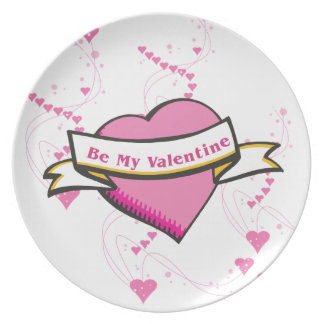 Be My Valentine Plate