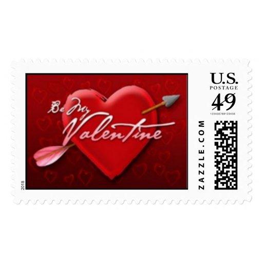 """Be My Valentine"" Postage"