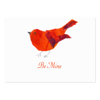 Be My Valentine  Red Bird Large Business Card