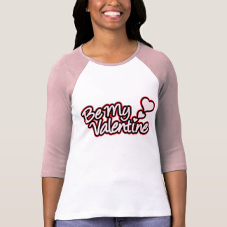 """Be My Valentine"" red black & pink women's 3/4 tee"