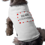 Be My Valentine Red Hearts Dog Tank Top Shirts Dog T-shirt