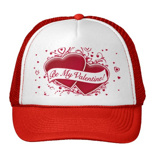 Be My Valentine! Red Hearts Hats