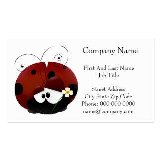Be My Valentine Red Ladybug Cartoon Business Card