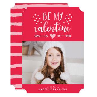 Be My Valentine | Red Valentine's Day Photo Card