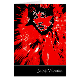 Be My Valentine Red Valpyra by Valpyra Card