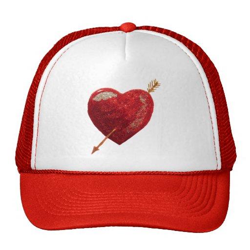 Be my valentine Shot through the heart Love Hat