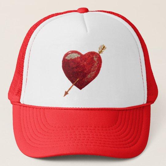 Be my valentine Shot through the heart Love Trucker Hat