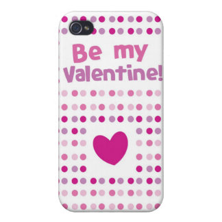 Be my Valentine spotty card products iPhone 4 Cover