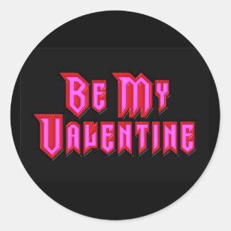 Be My Valentine Round Sticker