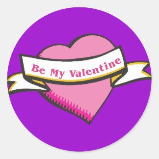 Be My Valentine Stickers