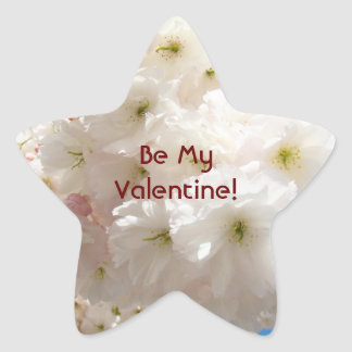 Be My Valentine! stickers Star Shape Blossoms Pink