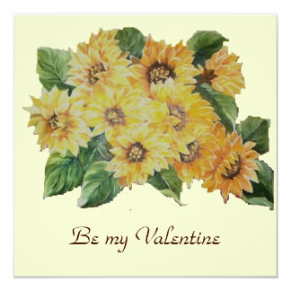 BE MY VALENTINE SUNFLOWERS CARD