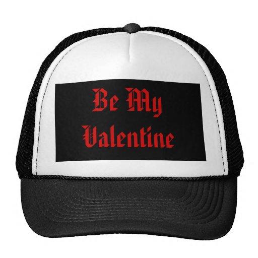 Be My Valentine. Valentines Day. Red Black. Custom Trucker Hat