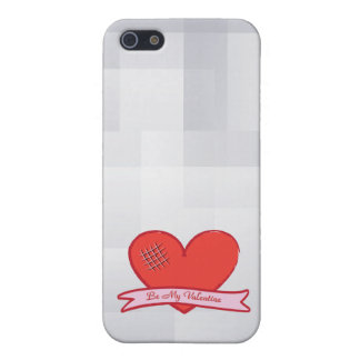 Be my valentine with red heart iPhone SE/5/5s case