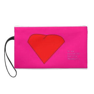 Be my valentine wristlet purse
