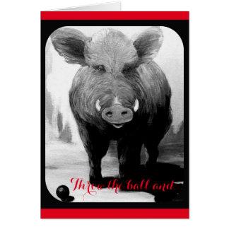 Be My Valentine XOXO Hog Card  VCollierArt