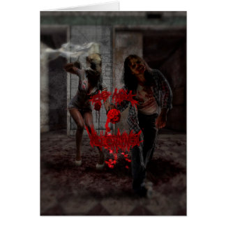 Be My Valentine Zombie Couple Card