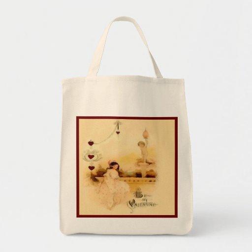 Be My Vintage Valentine Reusable Canvas Bag