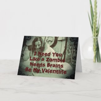Be My Zombie Valentine Holiday Card
