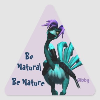 Be Natural Stickers