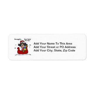Be Naughty Return Address Label