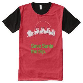 BE NAUGHTY SAVE SANTA THE TRIP --.png All-Over-Print Shirt
