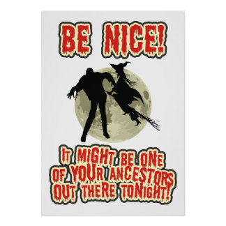 Be Nice At Halloween Print