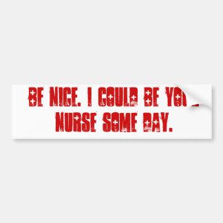 Be nice. car bumper sticker