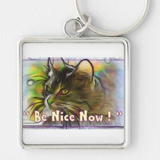 Be Nice Now Keychain