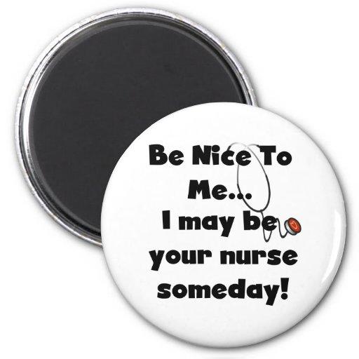 Be Nice Nurse 2 Inch Round Magnet