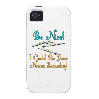 Be Nice - Nurse Humor iPhone 4 Cases