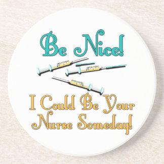 Be Nice - Nurse Humor Coaster
