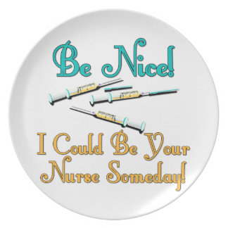 Be Nice - Nurse Humor Party Plates