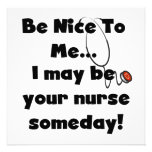 Be Nice Nurse T-shirts and Gifts Custom Invite