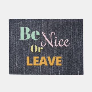 Go away doormats welcome mats zazzle - Doormat that says leave ...