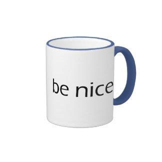 Be Nice Ringer Coffee Mug