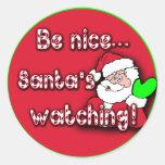 Be nice...Santa's Watching! TIP JAR STICKERS