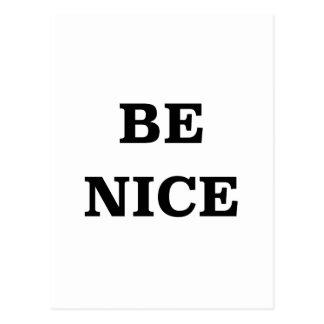 Be Nice (spread the word) Postcard