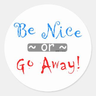 be nice round stickers