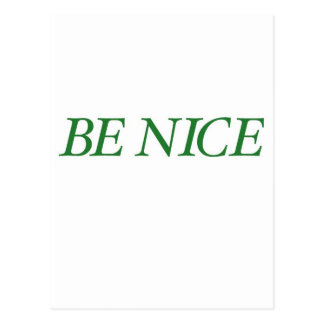 Be Nice (The Big Green Persuader) Postcard
