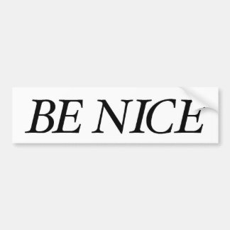 Be Nice (The Black Simple Baby) Bumper Sticker