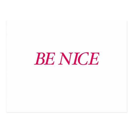Be Nice (The Red Warrior) Postcard